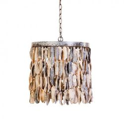 Wassau Shell Drum Pendant Light
