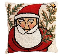 Western Santa Christmas Pillow  <font color=a8bb35> NEW</font>