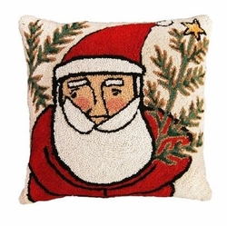 Western Santa Christmas Pillow