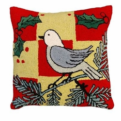 White Bird Christmas Pillow
