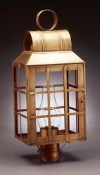 Woodcliffe II Series:  Large H Bars Post Lantern with Chimney