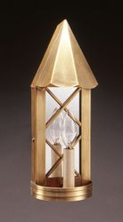 X-Bar Mirrored Wall Sconce Cone Top