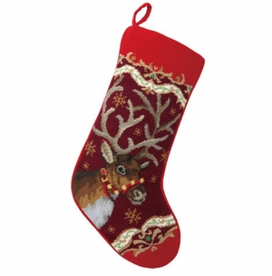 Xmas Deer Stocking<font color =a8bb35> Sold out</font>
