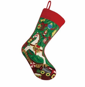 Xmas Rocking House Christmas Stocking<font color =a8bb35> Sold out</font>
