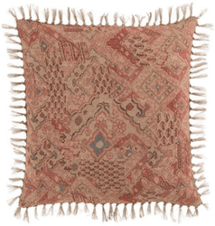 Yasmine Linen Patchwork Decorative Pillow