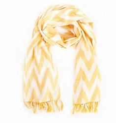 Yellow Ikat Beach Scarf