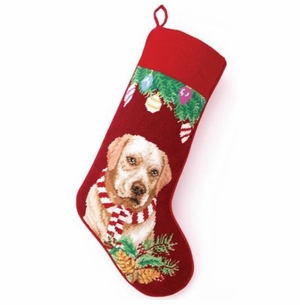 Yellow Lab Christmas Stocking<font color =a8bb35> Sold out</font>