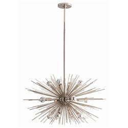 Zanadoo Small 12-Light Polished Nickel Chandelier *Low Stock