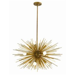 Zanadoo Small 12-Light Antique Brass Chandelier