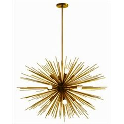 Zanadoo Large 12-Light Antique Brass Chandelier