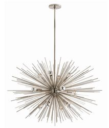 Zanadoo Large 12-Light  Polished Nickel Chandelier
