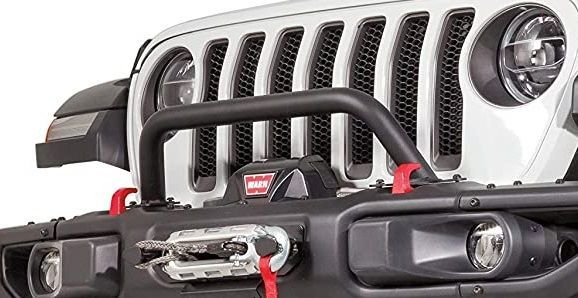 Warn Low Grill Guard Tube for 2018-2020 Wrangler JL and 2020 Gladiator JT with Factory Steel Bumper