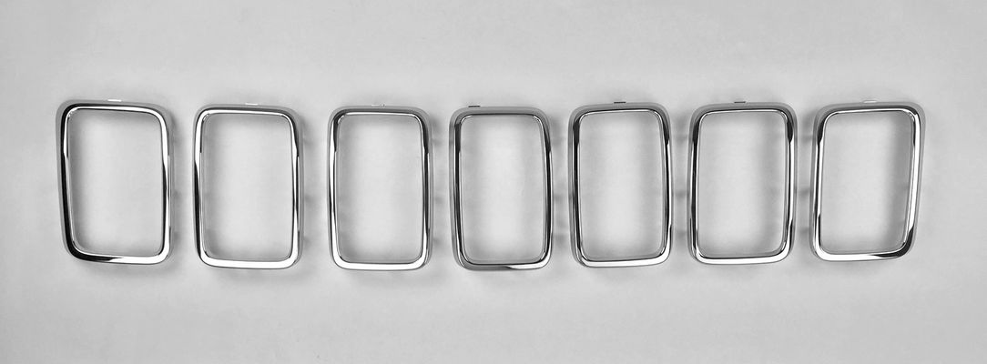 Chrome Grill Rings for Grand Cherokee WK2 2017-2020