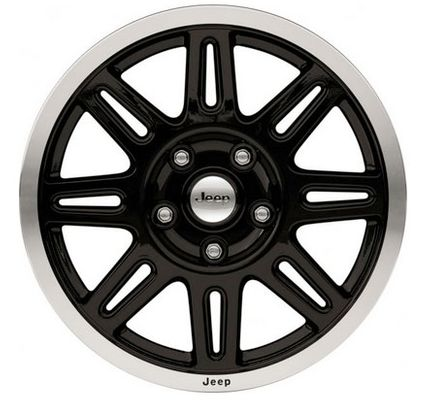 "17"" Black Painted Face Wheel"