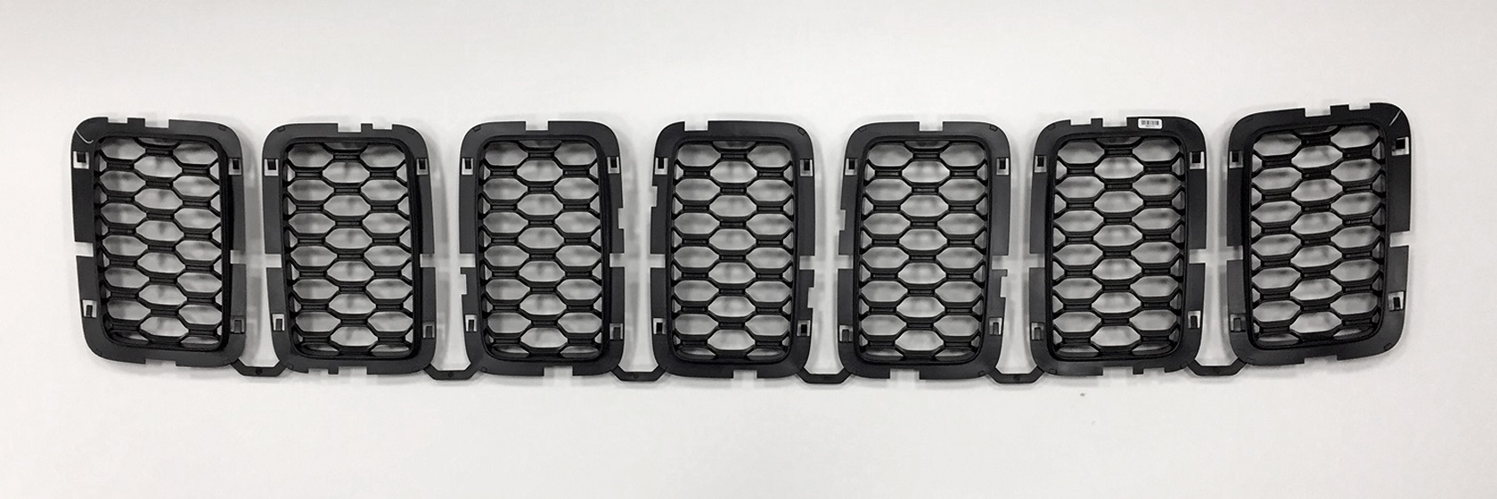 Mopar Black Honeycomb Grill Inserts for 2017-2020 Grand Cherokee WK2