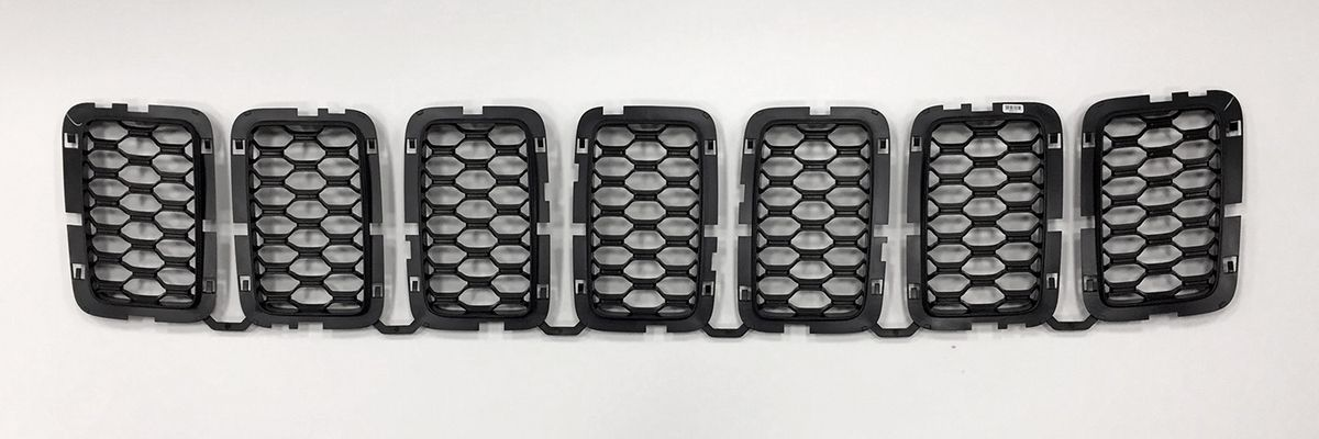 Black Honeycomb Grill Inserts Grand Cherokee 2017-2019