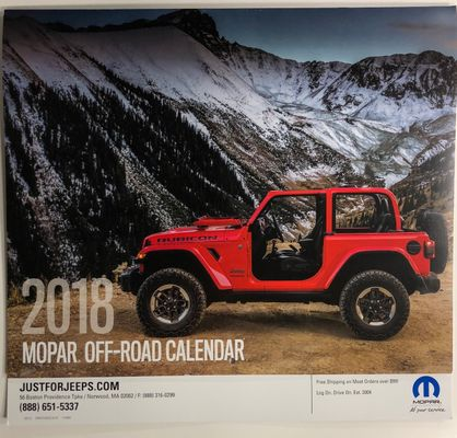 2018 Mopar Off-Road Calendar