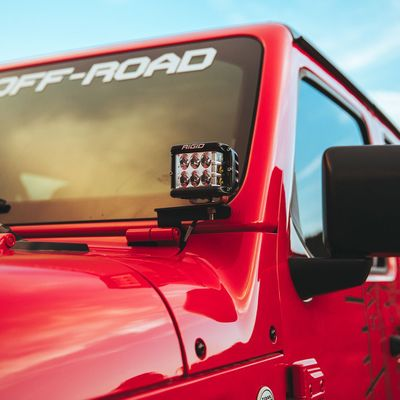 Rigid Industries JL A-Pillar Mount (Fits 2 D-Series, 2 D-SS, 2 SR-M or 2 Ignites) for 2018-2020 Wrangler JL and Gladiator JT