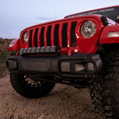 "Rigid Industries 20"" Adapt LED Light Bar Bracket (Fits 1 20"" Adapt) for 2018-2020 Wrangler JL and Gladiator JT with Factory OEM Steel Bumper"
