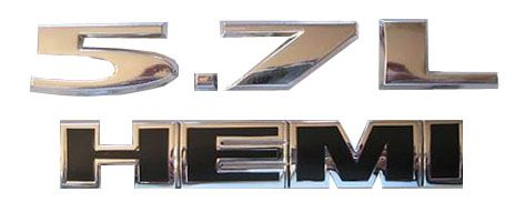 5.7L - HEMI Combo Badge Decal