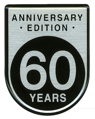 60 Years Anniversary Badge Decal