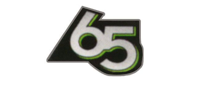 65th Anniversary Badge Decal