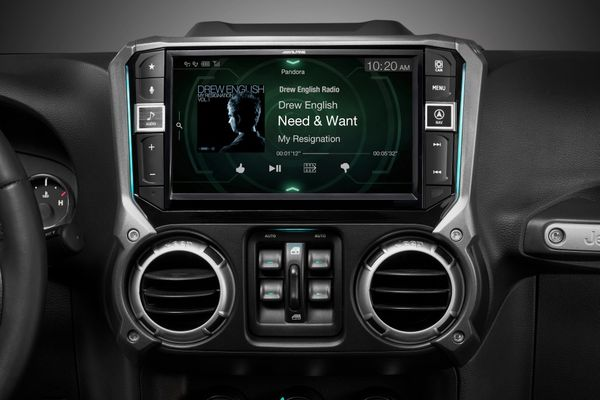 """Alpine 9"""" Restyle with Apple Carplay and Android Auto for 2011-2018 Wrangler JK (X209-WRA)"""