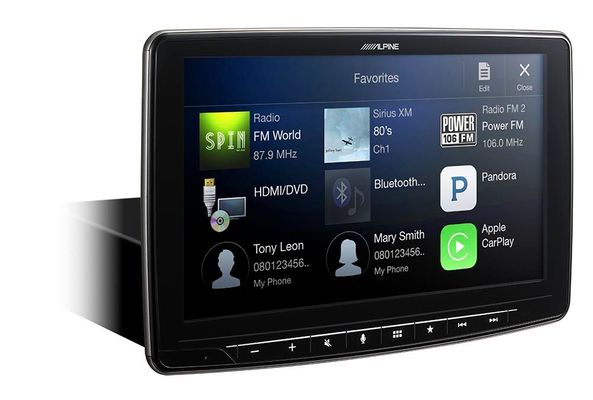 Alpine Halo9 ilx-F309 9-Inch Mech-Less Dash Receiver with Apple CarPlay & Android Auto