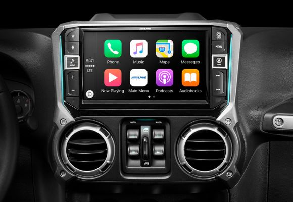 """Alpine 9"""" Restyle with Apple Carplay and Android Auto for 2011-2018 Wrangler JK (i209-WRA)"""
