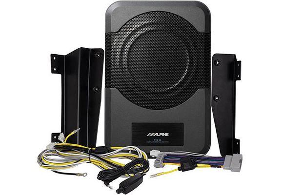 """Alpine PWE-S8-WRA  8"""" Compact Powered Subwoofer System for 2011-2018 Wrangler JK"""