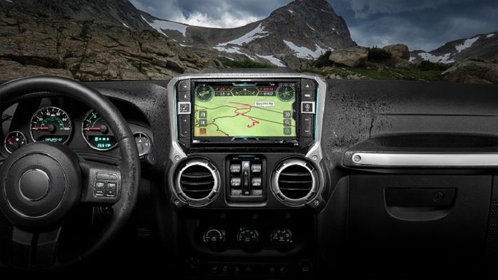 "Alpine X209-WRA-OR: 9"" Restyle Weather-Resistant In-Dash System with Off-Road Mode for 2011-2018 Wrangler JK"