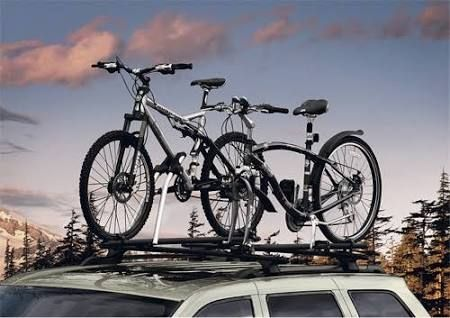 T-Slot Mounted Bicycle Roof Mount Carrier