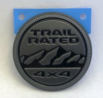 Mopar Black and Gray Trail Rated Badge for 1997-2020 All Jeeps