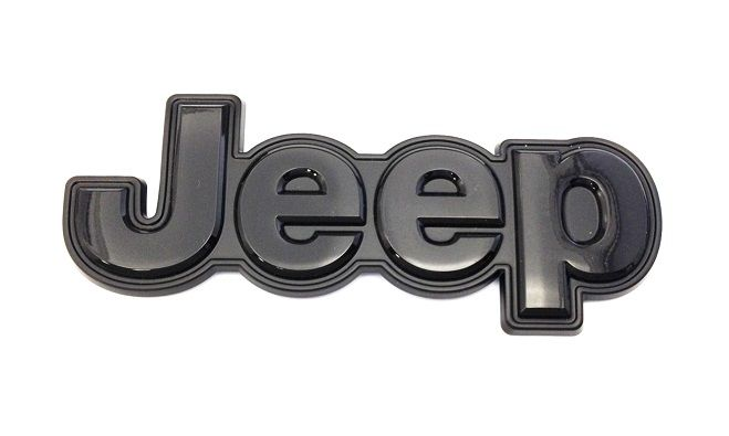 Black Cherokee Altitude Jeep Tailgate Badge