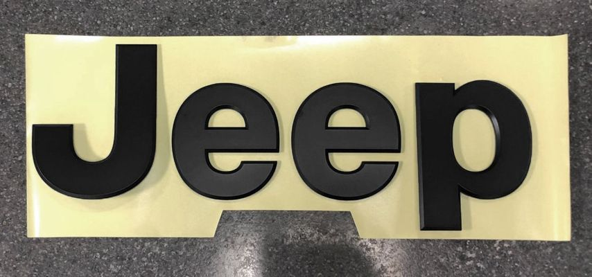 "Mopar Satin Black ""Jeep"" Tailgate Badge for 2020 Gladiator JT"