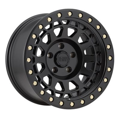 Black Rhino Primm Matte Black Wheel with Brass Bolts for 2007-2020 Wrangler JK/JL and 2020 Gladiator JT