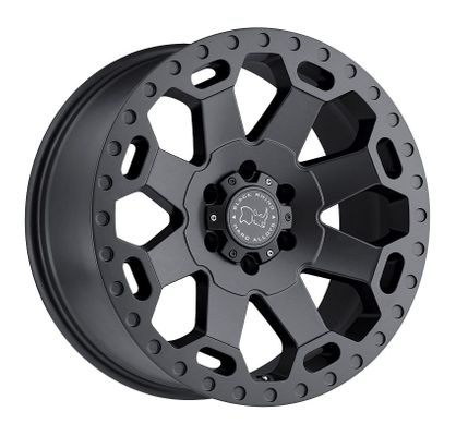 Black Rhino Warlord Matte Gunmetal Gray Wheel for 2007-2020 Wrangler JK/JL Gladiator JT and 1999-2020 Grand Cherokee WJ/WK/WK2
