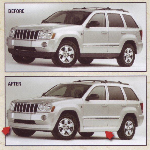 color matched body kit for grand cherokee wkbodykitsbody kit ground effects