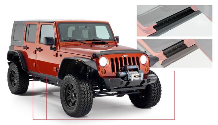 Bushwacker Trail Armor Rocker Panel & Sill Plate Pair for Wrangler JK