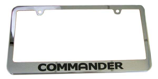 Commander Chrome License Plate Frame