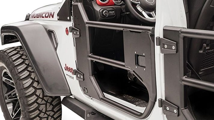 Fab Fours Front Half Tube Door for 2018-2021 Wrangler JL and 2020 Gladiator JT