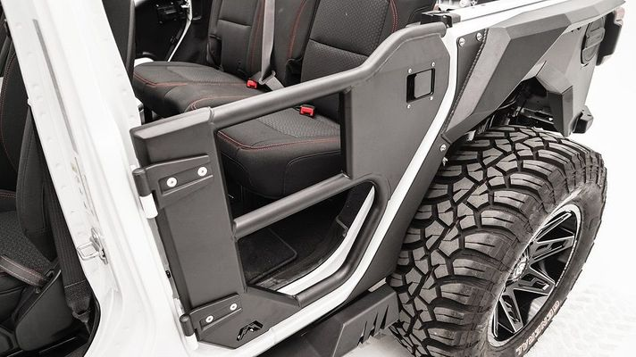 Fab Fours Rear Half Tube Door for 2018-2021 Wrangler JL and 2020 Gladiator JT