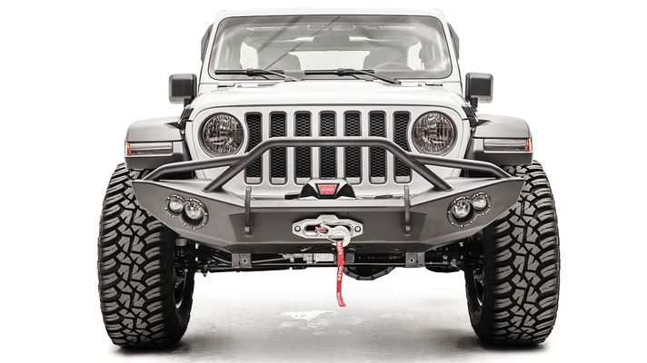 Fab Fours Lifestyle Winch Bumper for 2018-2021 Wrangler JL and 2020 Gladiator JT