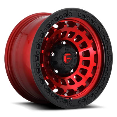 Fuel Offroad D632 Zephyr Candy Red w/ Matte Black Ring Wheel for 2007-2020 Wrangler JK/JL and 2020 Gladiator JT