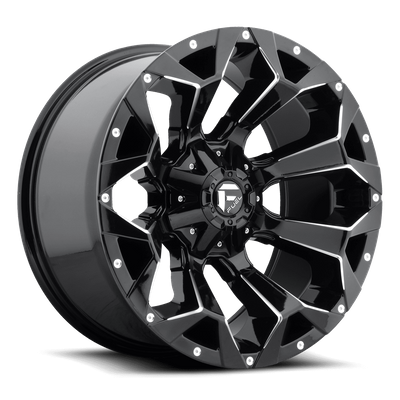 Fuel Off-Road Assault Gloss Black and Milled Wheel