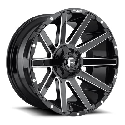 Fuel Off-Road Contra Gloss Black & Milled Wheel