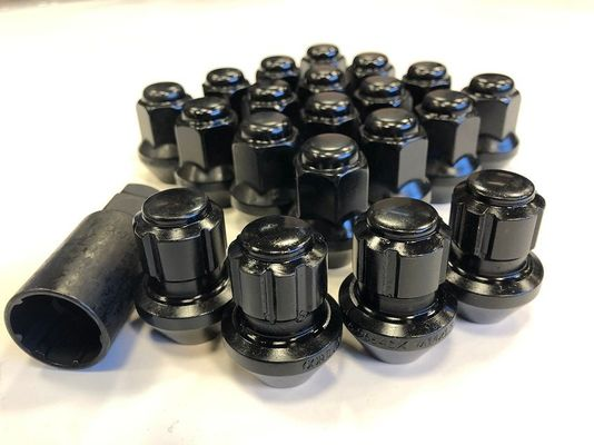 Gorilla Automotive Black 14mm x 1.50 Acorn Style Lug Nuts and Wheel Lock kit for 2011-2020 Grand Cherokee WK2 and 2020 Gladiator JT with Factory Style Wheels (set of 16 lugs and 4 locking lugs)