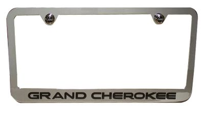 Screws Jeep Wrangler Cherokee Rubicon  Chrome Steel License Plate Frame Caps