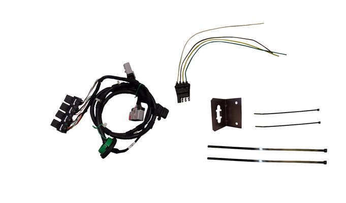 4-Way Flat Trailer Hitch Wiring Harness for 2002-2007 Liberty KJ
