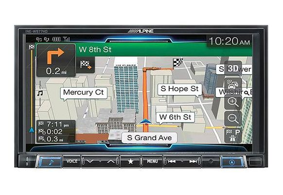 "Alpine INE-W977HD 7"" Mech-Less Navigation Receiver w/ Apple Carplay and Android Auto"